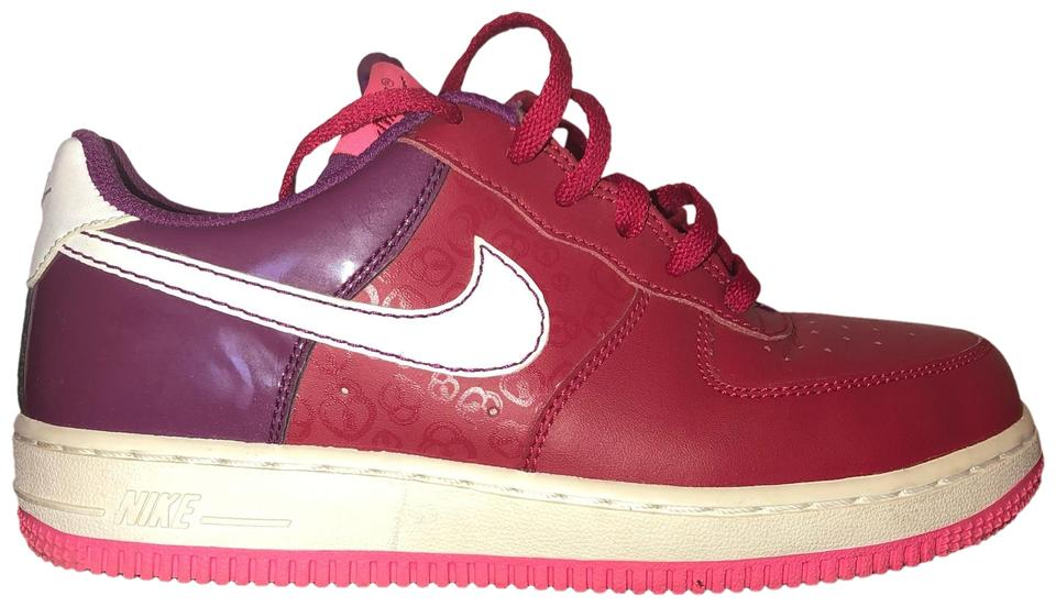 save off b8a29 e9ff1 Nike Red Berry Air Force 1 Low Sneakers