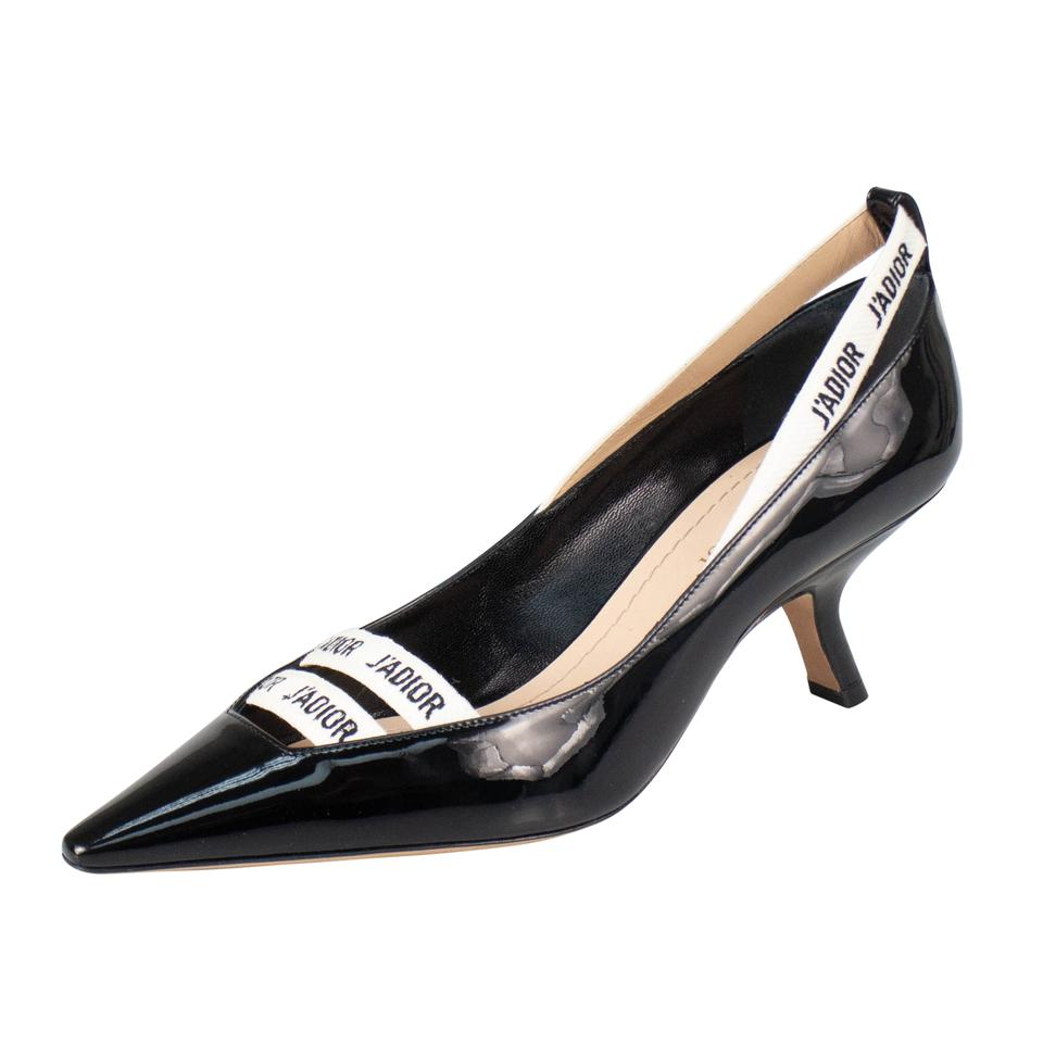 631a7b5e4ecc Dior Black  j adior  Patent Leather Kitten Pumps Size EU 37 (Approx ...