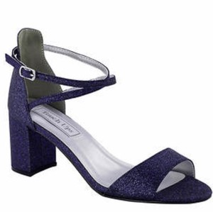 Touch Ups Navy Glitter 8m Sandals Size US 8 Regular (M, B)