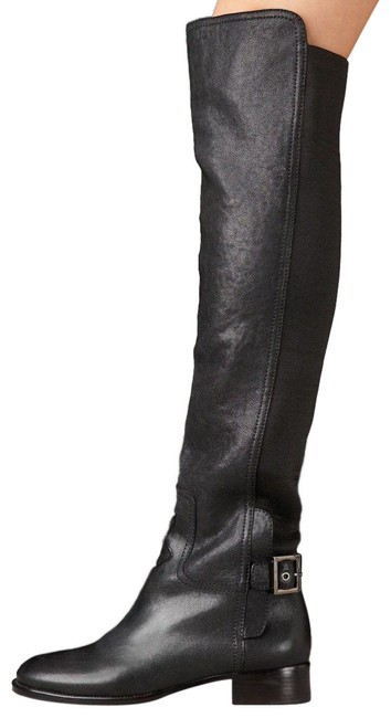 Tory Burch Women Jack Over Knee Black Leather Thigh Boots/Booties Size US 5.5 Regular (M, B) Tory Burch Women Jack Over Knee Black Leather Thigh Boots/Booties Size US 5.5 Regular (M, B) Image 1