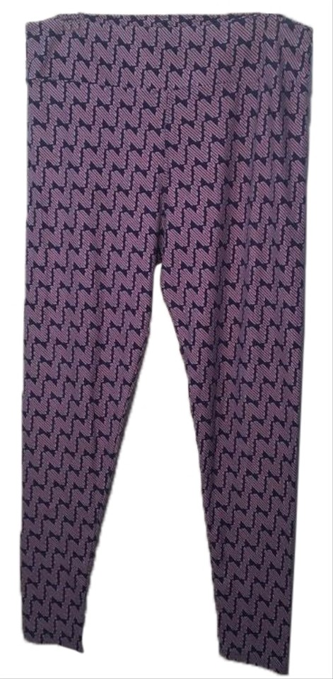 48d8bb83887778 LuLaRoe Purple Tc Zig Zag Print Leggings Size 16 (XL, Plus 0x) - Tradesy