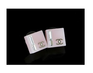 Chanel Chanel CC Earrings Crystals Light Pink Resin 07C
