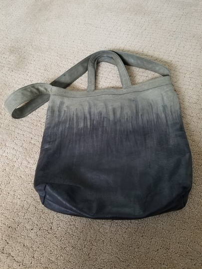 Other Hand Painted Vintage Tote in Gray/Black Image 10
