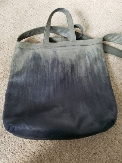 Other Hand Painted Vintage Tote in Gray/Black Image 11