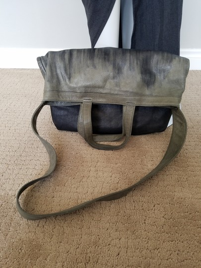 Other Hand Painted Vintage Tote in Gray/Black Image 5
