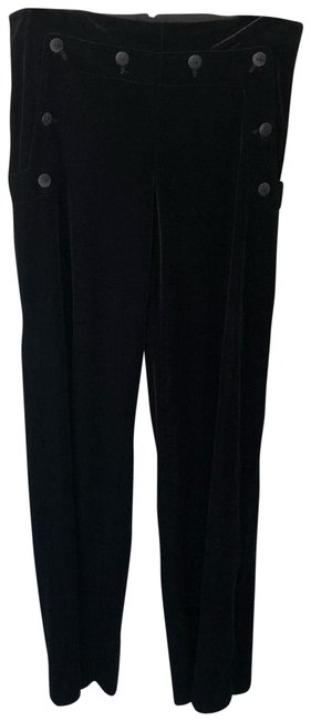 Item - Black Velvet Sailor Flap Pants Size 4 (S, 27)
