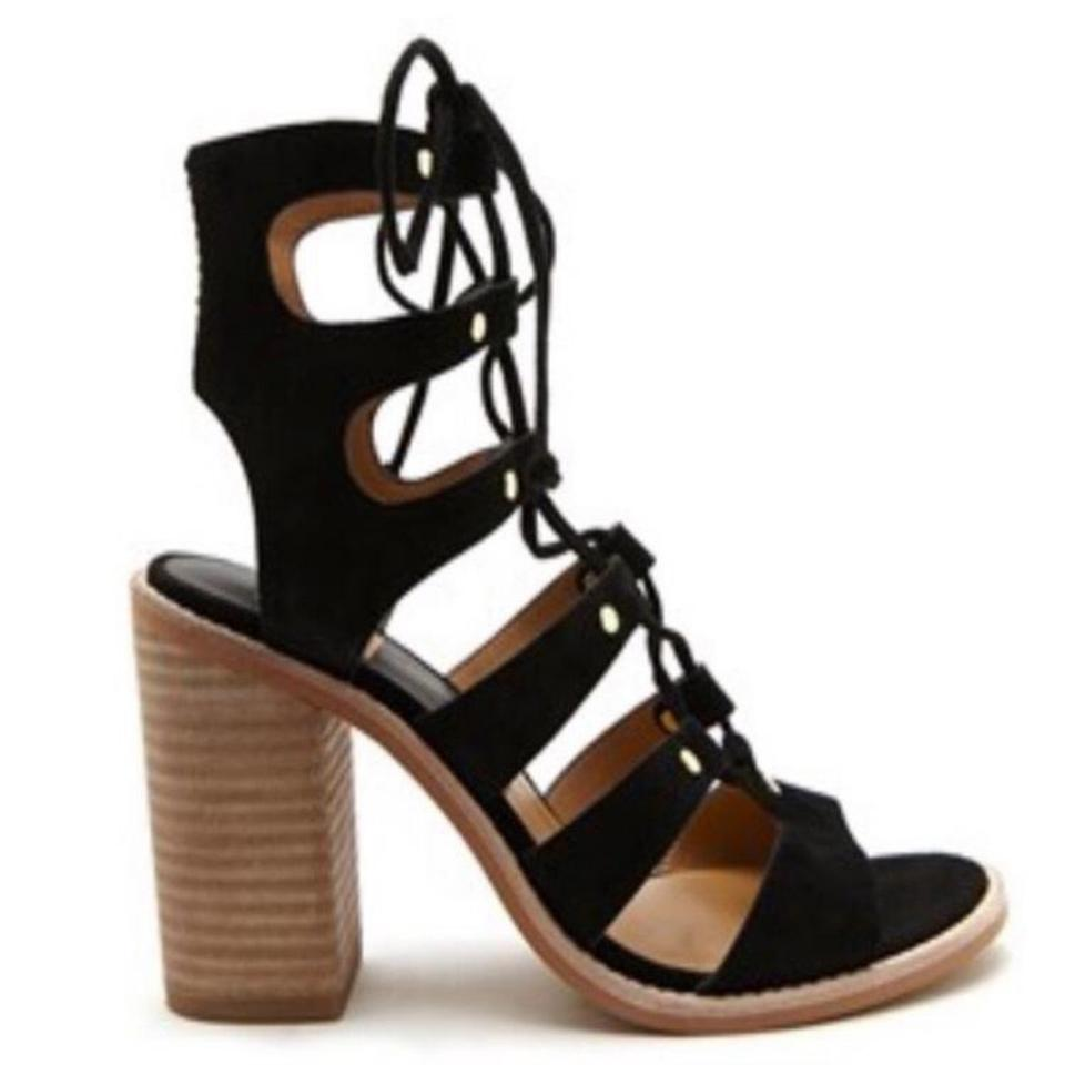 9e677cdfbe2 Dolce Vita Black  lyndon  Lace-up Sandal Heel Pumps Size US 8.5 ...