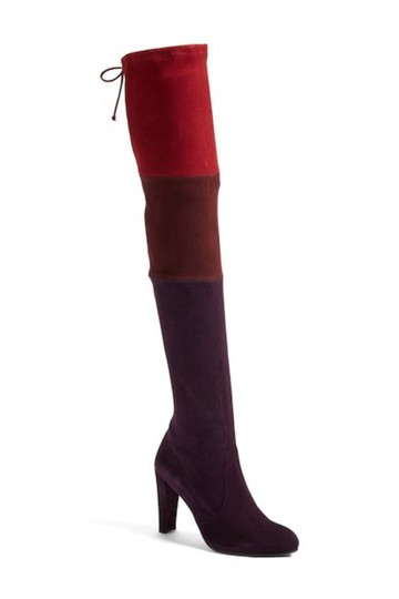 Stuart Weitzman Suede Over The Knee Troika BERRY Boots Image 1