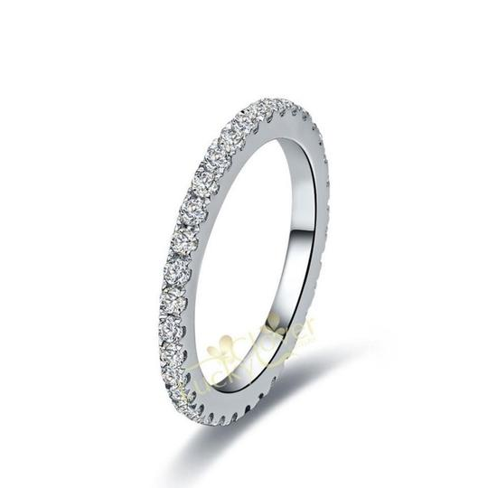 Is Stock Let Me Know Your After Payment In A Message 4.5 5 5.5 6 6.5 7 7.5 8 8.5 2ct Set Pt950 Engagement Ring Image 3