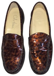 Cole Haan Copper and Black Animal Print Flats
