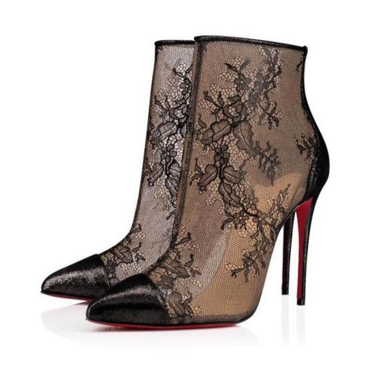 Preload https://img-static.tradesy.com/item/24974763/christian-louboutin-black-gipsybootie-lame-lace-cap-toe-stiletto-bootsbooties-size-eu-36-approx-us-6-0-1-540-540.jpg