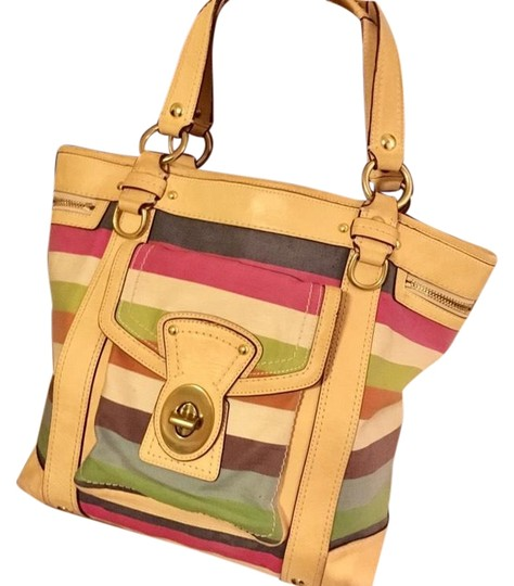 Preload https://img-static.tradesy.com/item/24974806/coach-beach-style-multi-color-coated-canvas-and-leather-tote-0-1-540-540.jpg