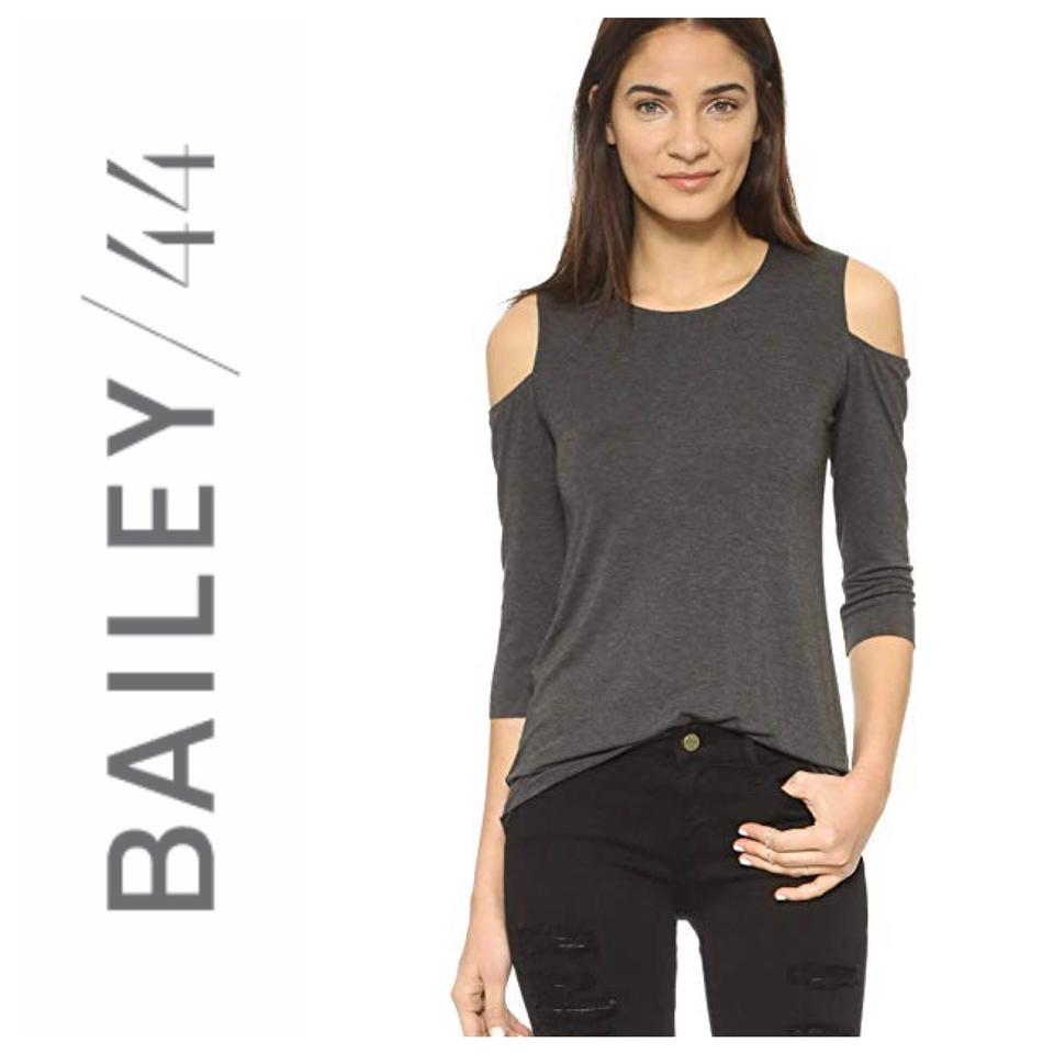 8600435ffa939c Bailey 44 Charcoal Grey Denvue Cold Shoulder Tee Shirt Size 8 (M ...