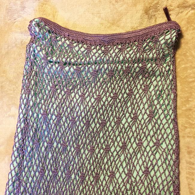 Double D Ranchwear Maxi Skirt Purple and aqua Image 2