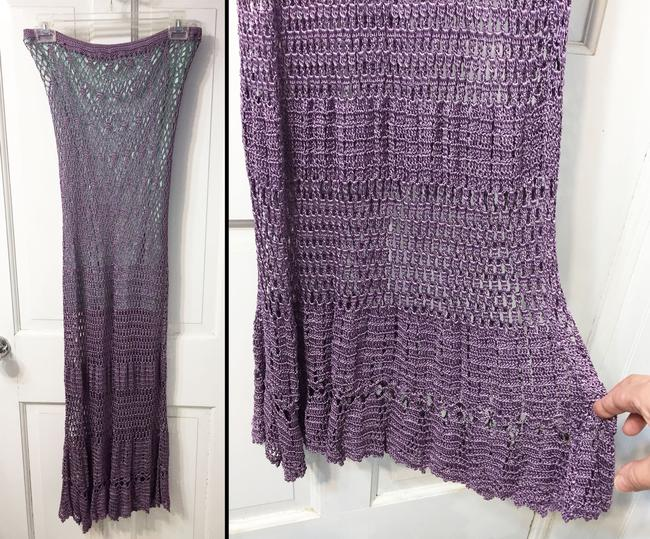 Double D Ranchwear Maxi Skirt Purple and aqua Image 4