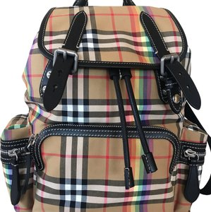 49d19b1adcce Added to Shopping Bag. Burberry Backpack. Burberry Medium Rucksack Vintage  Check Rainbow Backpack