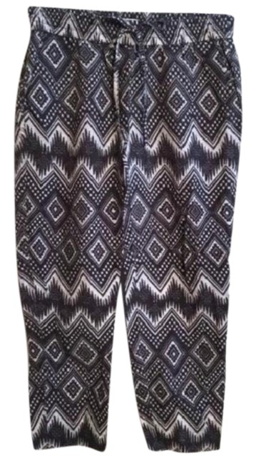 Item - Gray & Tan Print Pants Size 6 (S, 28)