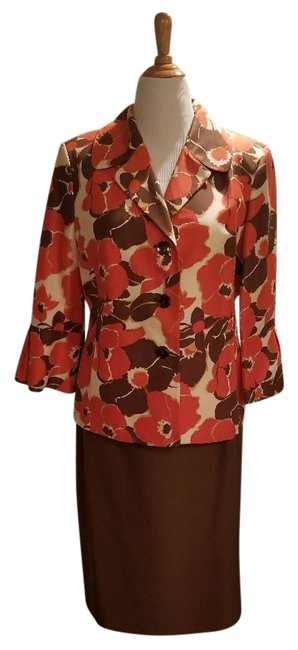 Item - Orange and Brown Skirt Suit Size 18 (XL, Plus 0x)