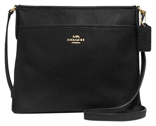 Preload https://img-static.tradesy.com/item/24975326/coach-file-f28035-black-gold-tone-pebbled-leather-cross-body-bag-0-2-540-540.jpg