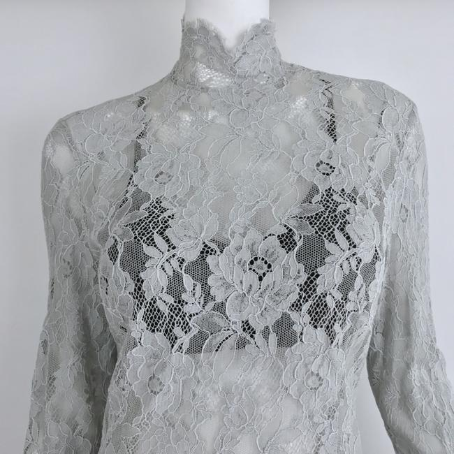 Louis Feraud Victorian Chic Vintage Lace Top Gray Image 1