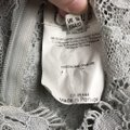 Louis Feraud Victorian Chic Vintage Lace Top Gray Image 5