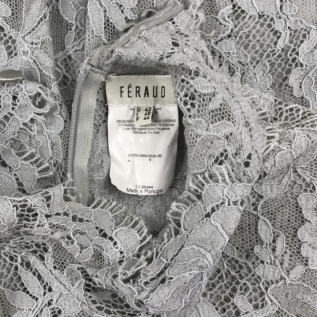 Louis Feraud Victorian Chic Vintage Lace Top Gray Image 6