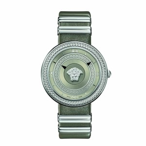 Versace Versace Watch Versace VLC120016 Women's V METAL ICON Silver Tone Watch