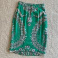 Yoana Baraschi Skirt Kelly green with shades of grey floral print Image 1