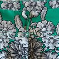 Yoana Baraschi Skirt Kelly green with shades of grey floral print Image 2