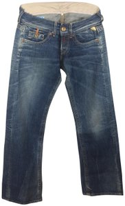 Replay Flower Floral Rose Relaxed Fit Jeans-Medium Wash