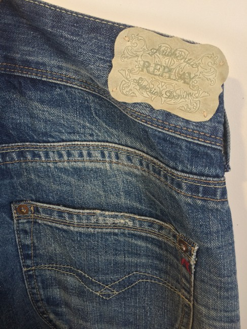 Replay Flower Floral Rose Relaxed Fit Jeans-Medium Wash Image 4