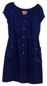 Phoebe Couture short dress royal blue on Tradesy