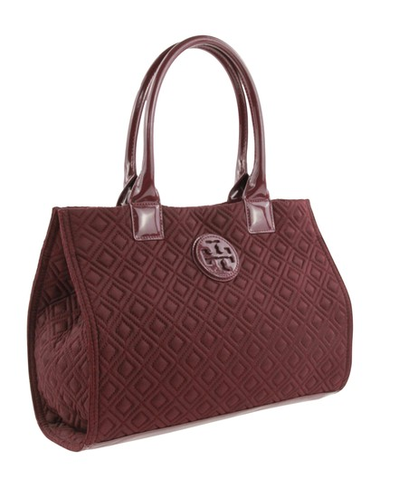 Tory Burch Nylon Ella Quilted Tote in purple Image 1