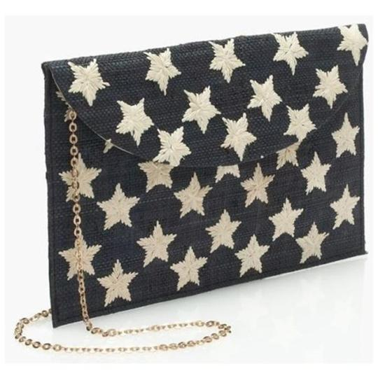 Kayu Embroidered Summer Navy Clutch Image 1
