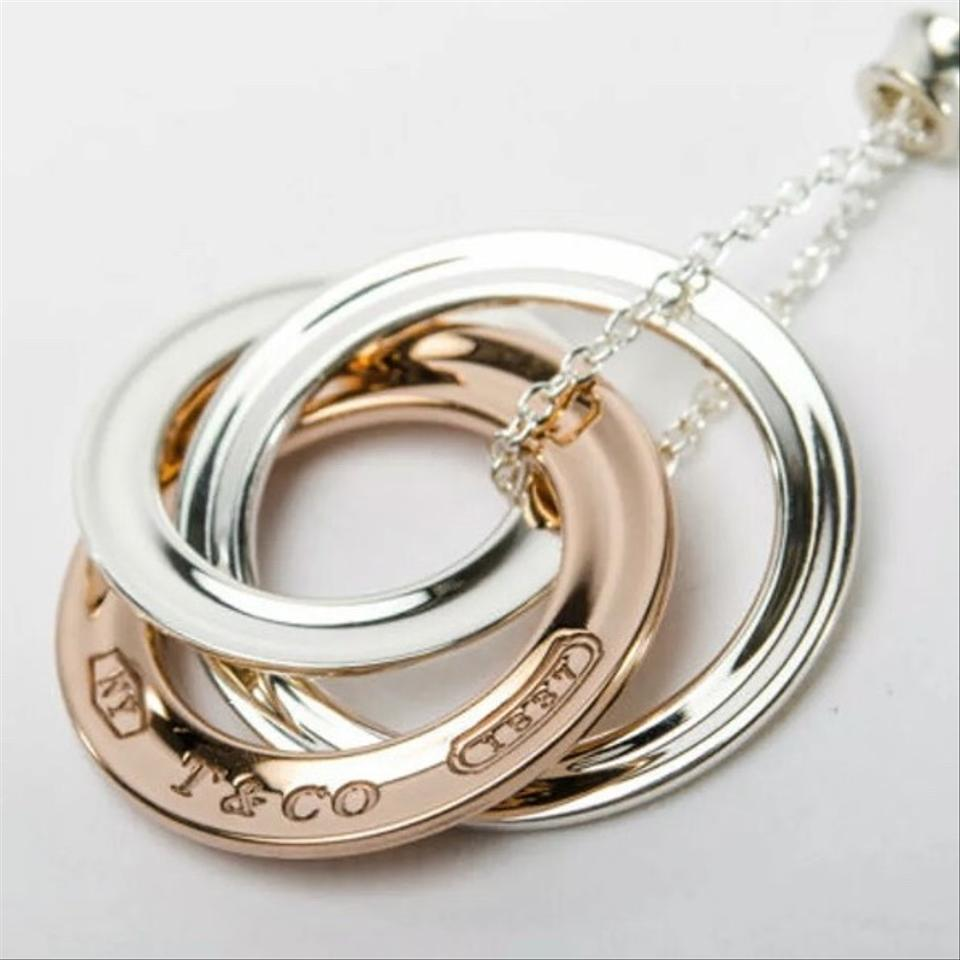 7796322eb Tiffany & Co. Rubedo (Rose Colored) and Sterling Silver 1837 Interlocking  Circles Necklace. 123456789