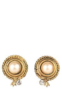Chanel CHANEL Vintage Gold Clip-On Earrings
