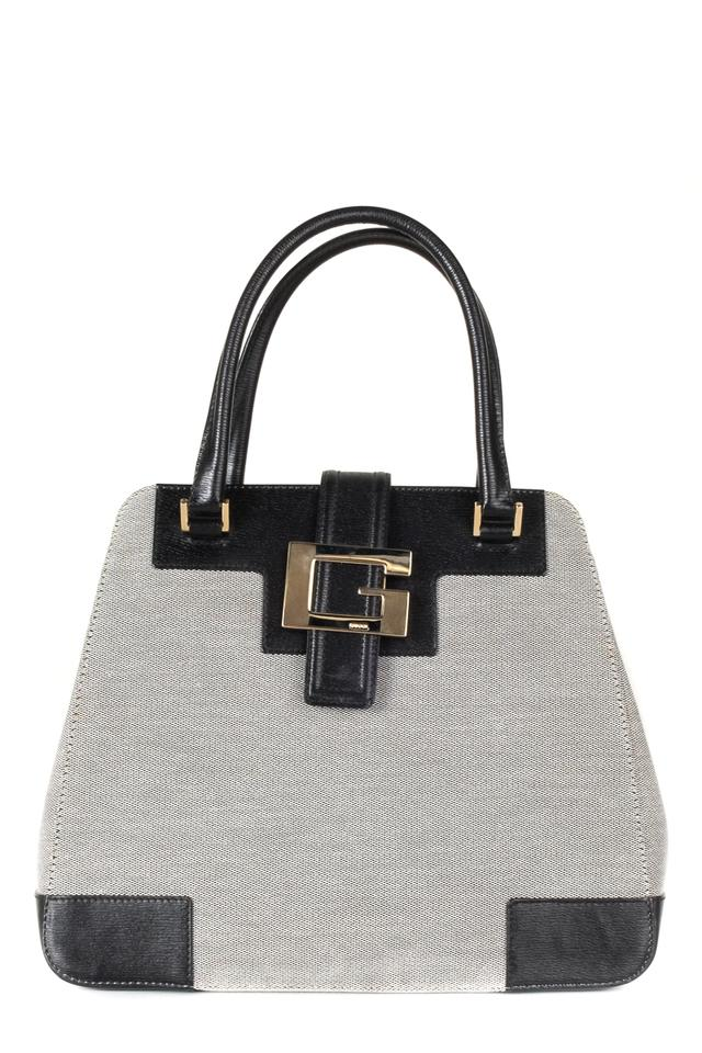 4ff863cdc959 Gucci Handle Grey Canvas Shoulder Bag - Tradesy