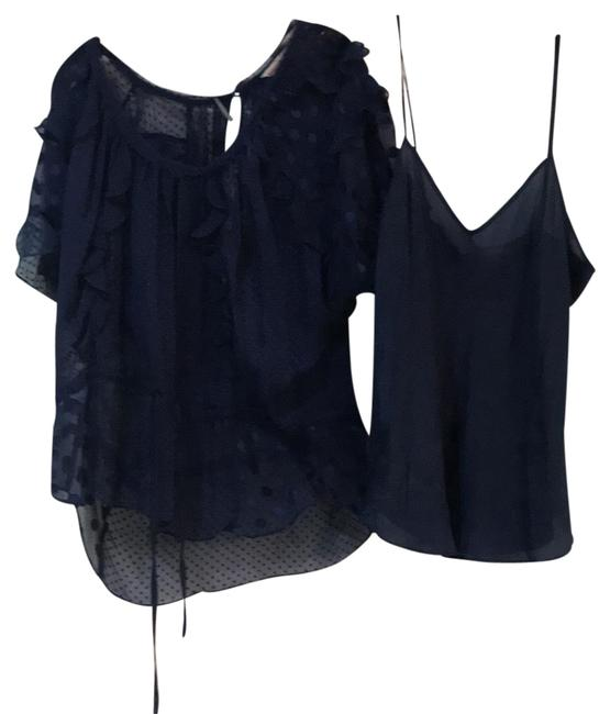 Preload https://img-static.tradesy.com/item/24976102/rebecca-taylor-navy-lace-and-tank-blouse-size-10-m-0-1-650-650.jpg
