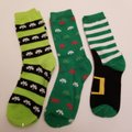 Golden Horn Creations St. Patrick's Day Shamrock Irish 3 pack of ladies novelty socks