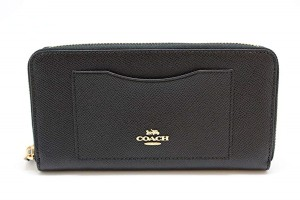 Coach Black Crossgrain Leather F54007 Women's Wallet