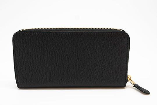 Coach Black Crossgrain Leather F54007 Women's Wallet Image 1