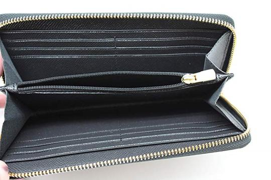 Coach Black Crossgrain Leather F54007 Women's Wallet Image 4