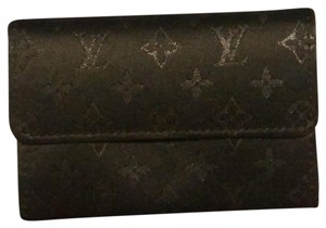 952d49d52d0 Louis Vuitton Black Mini Monogram Satin Compact Wallet