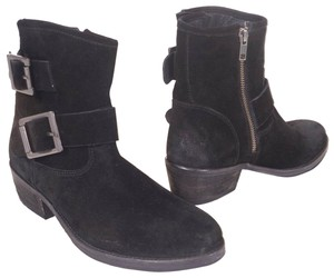 Seychelles Suede Leather Zipper Buckle Black Boots