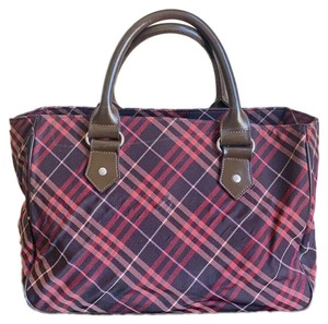 a73bf97673 Burberry Blue Label London Canvas Totes Satchel in Brown, Red