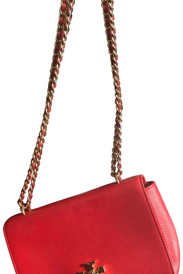 74a074dbb7f Tory Burch Shoulder Red Leather Cross Body Bag - Tradesy