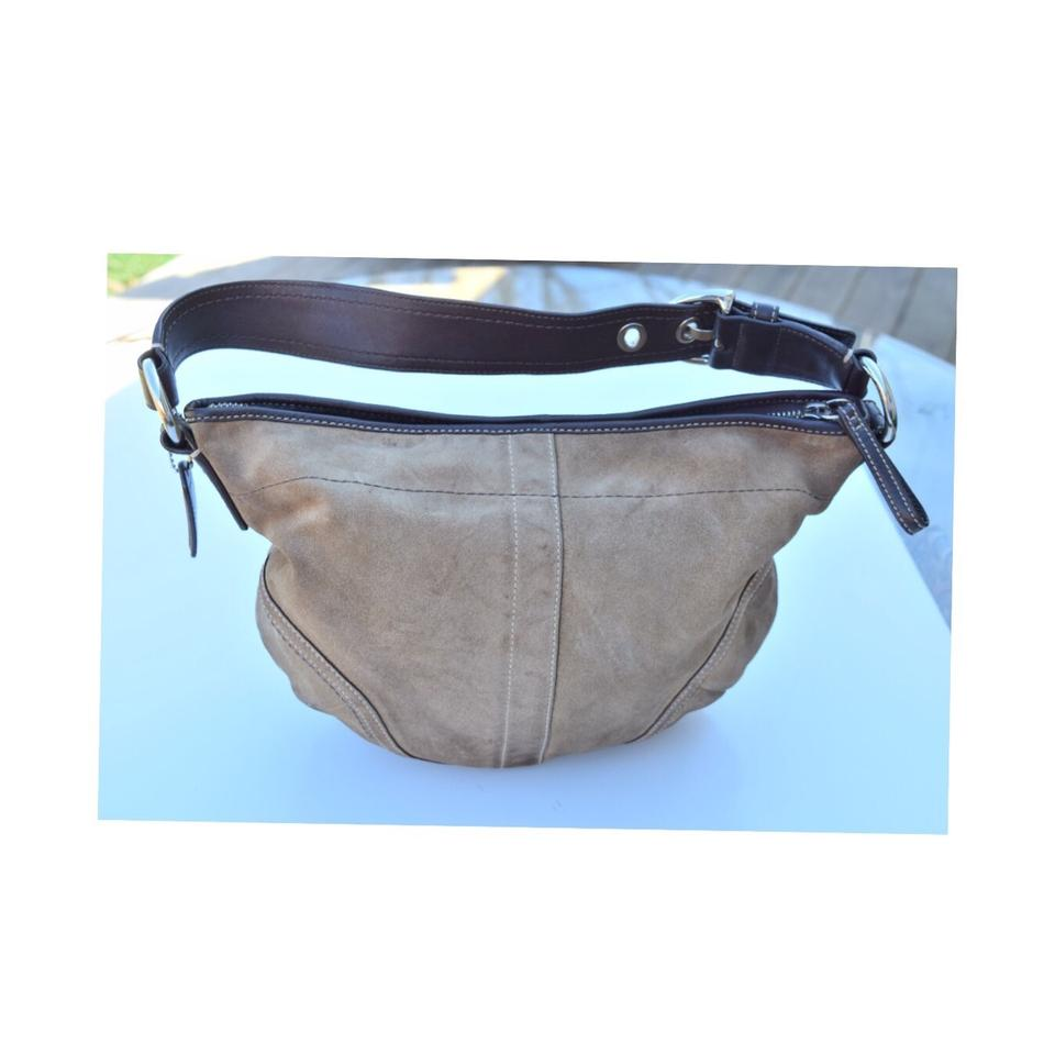 6f308fd376 Coach Camel Brown Suede Leather Hobo Bag - Tradesy