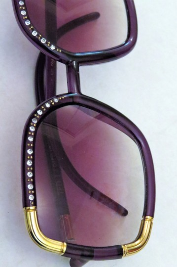 bc730a4ea3 Ted Lapidus Ted Lapidus Vintage Oversized Lucite Sunglasses with Strass  Crystals