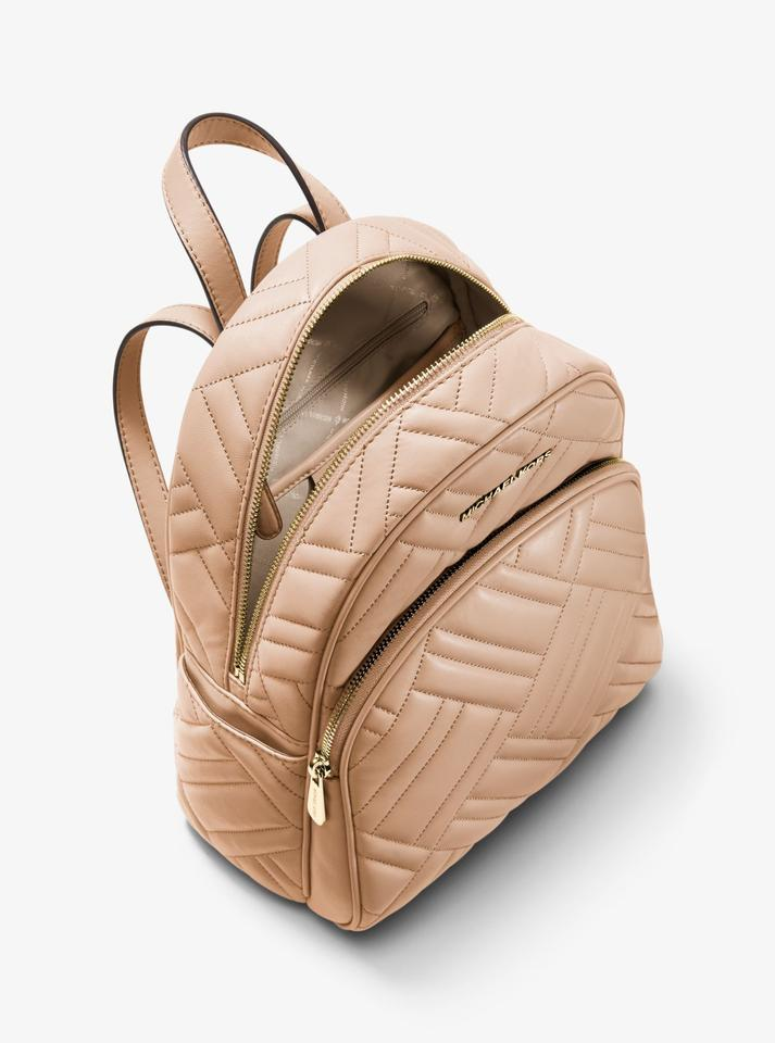 0409c3210700 Michael Kors Abbey Medium Quilted 36s9gayb2t Oyster Leather Backpack ...