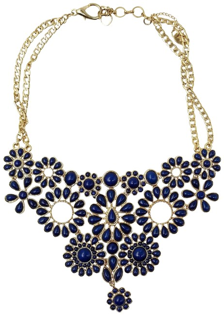 Item - Gold Rare Navy & Statement Necklace